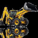 Maszyny budowlane w pracy